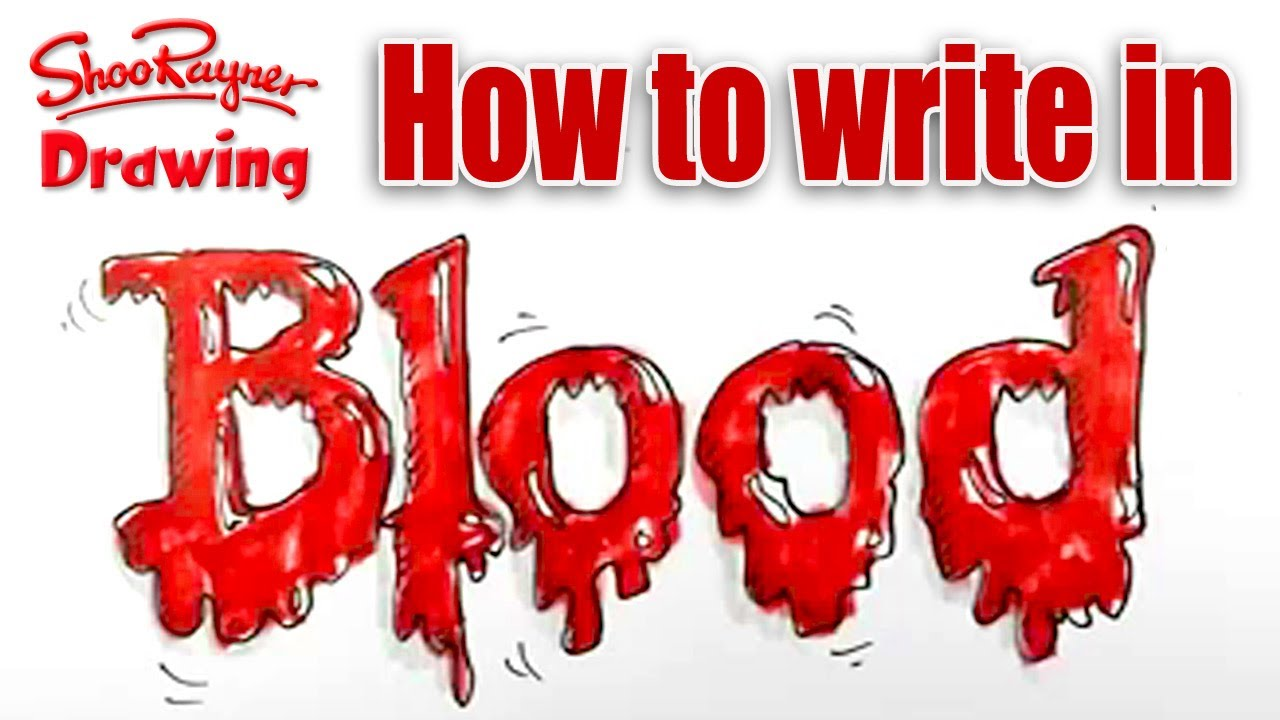 how to write in blood spoken tutorial for halloween  spoken tutorial for halloween