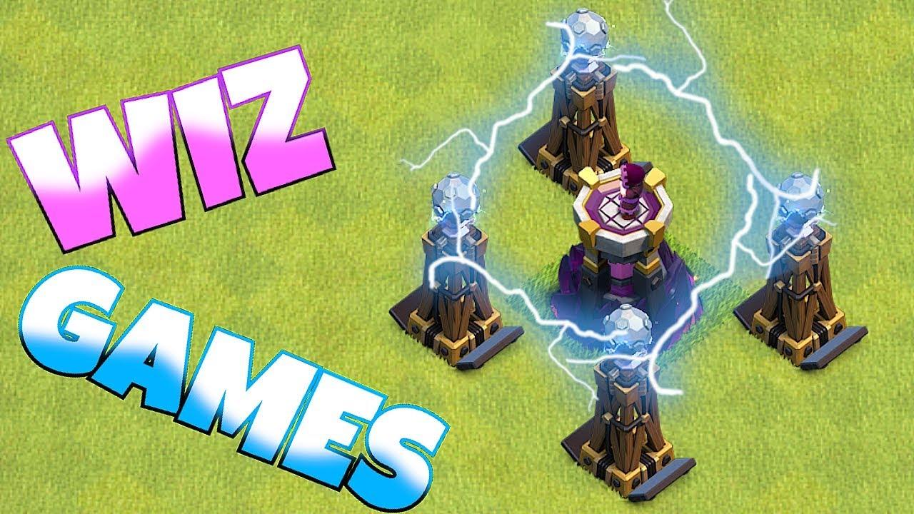 "NEW WIZARD GAMES!! ""Clash Of Clans"" 100% 3 star raid!!"