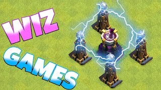 "NEW WIZARD GAMES!! ""Clash Of Clans"" 100% 3 star raid!!"