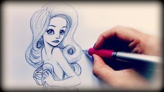 Draw Tutorial ❤ Sexy Innocent girl