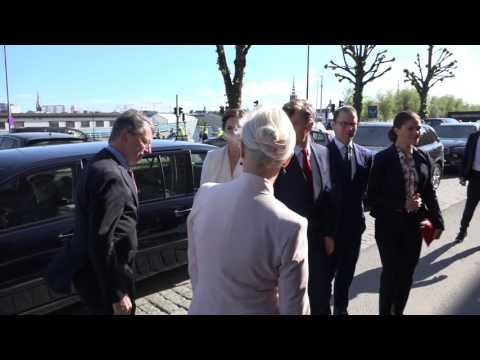 "Danish and Swedish Royals arrive to ""Liveable Scandinavia"" seminar."