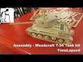 Assembly - Woodcraft T-34 Tank Kit TimeLapsed