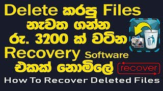 How to Recover Deleted Files from Phone, Computer, USB, SD Card, External hard disk? / Sinhala