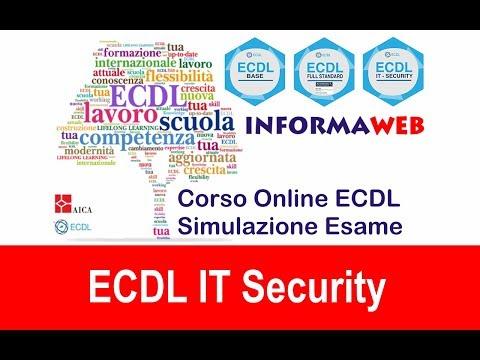 Simulazioni Esami Nuova ECDL Modulo 5 IT Security Livello Specialised Simulatore AICA  Syllabus 2.0