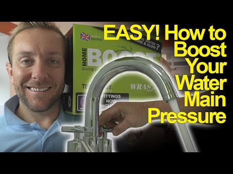 BOOST MAIN WATER PRESSURE - Salamander Pump - Plumbing Tips
