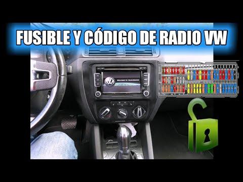 FUSIBLE Y CODIGO DE RADIO VOLKSWAGEN - YouTube