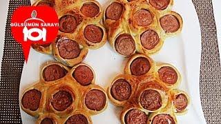 Sosisli pogaca / sosisli börek / pogaca tarrifi / Börek tarifi / pogaca rezept / Gülsümün Sarayi