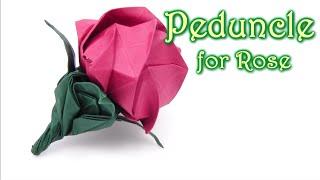 Origami Peduncle  for Kawasaki Rose - Yakomoga Origami tutorial