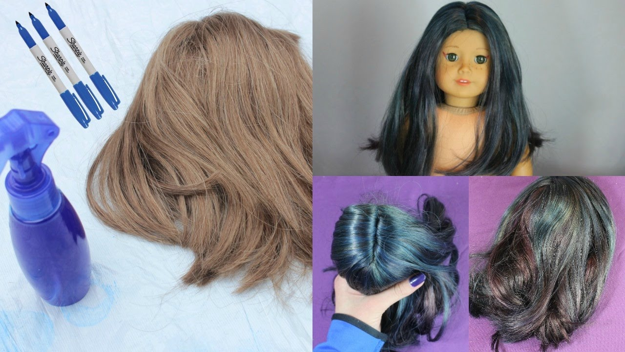 how to dye your american girl dolls hair with sharpies youtube. Black Bedroom Furniture Sets. Home Design Ideas