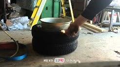 Tyre stretch.  145/80/13 7j