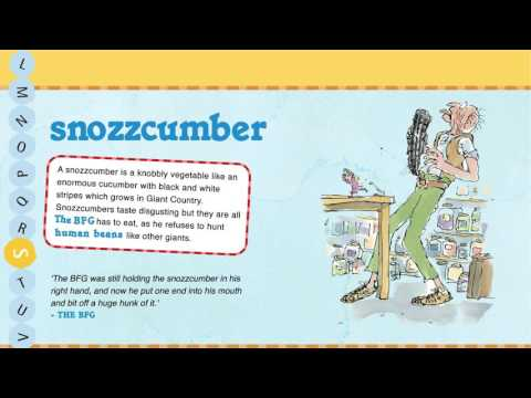 Oxford Roald Dahl Dictionary: What's a Snozzcumber?