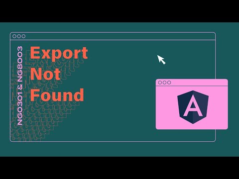 [Debugging] Export of name {directive} not found