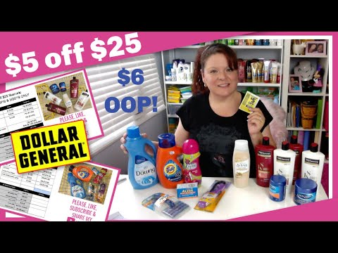 Dollar General $5 Off $25 Coupon Haul, Scenarios 5/19 & 5/20 ONLY!