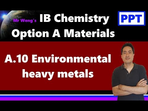IB Chemistry HL Option A Materials A.10 Environmental heavy metals