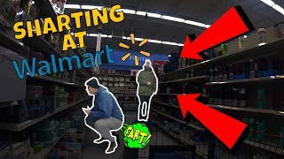Funny Wet Fart Prank With The Sharter At Walmart