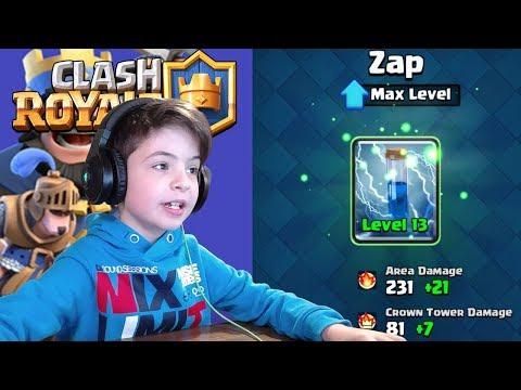 ZAP LEVEL 13 - MAX LEVEL - Clash Royale