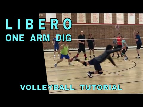 How To ONE ARM DIG - Volleyball Tutorial