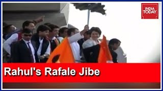 Rahul Gandhi's Clever Rafale Attack During Lucknow Roadshow!
