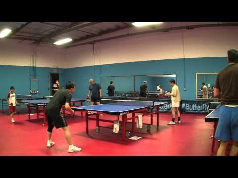 1/27/11 Ping Pong Dojo U2000 League Jie vs. Sunny + Mark vs Hung-Jen 1