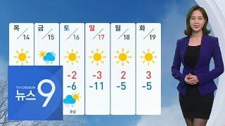 자정까지 곳곳 눈…13일 미세먼지 '매우 나쁨' [뉴스 9]