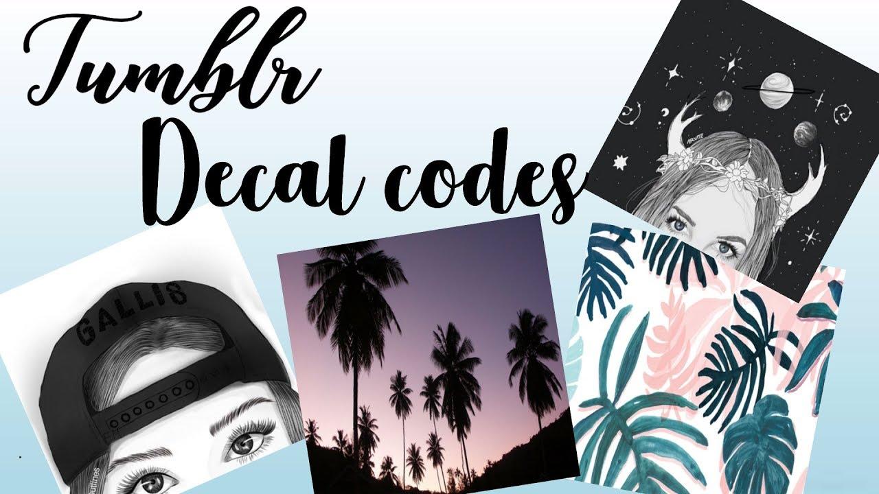 BLOXBURG| Tumblr decal codes