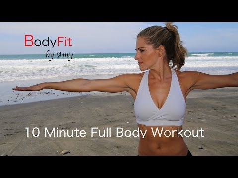 10 Minute Full Body Dumbbell Workout For Fat Burning and Toning