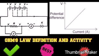 Ohm's Law explanation and activity for class 10 NCERT electricity physics science