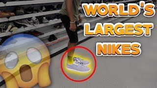 THE WORLDS LARGEST NIKE SHOES! (SIZE 22's)