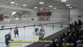 Acton Boxborough Varsity Boys Hockey @ Andover 2/20/13