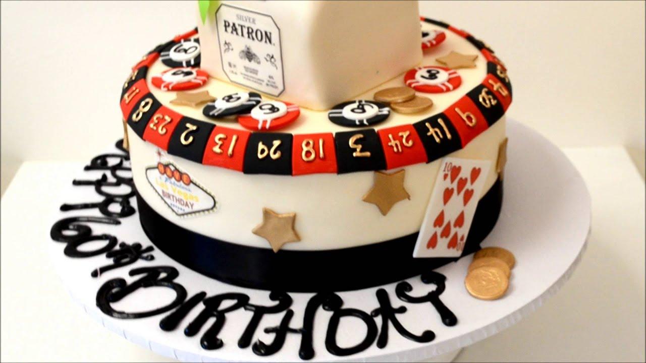 Las Vegas Theme Cake With Patron On Top Youtube