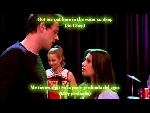 Glee - No air / Sub spanish with lyrics