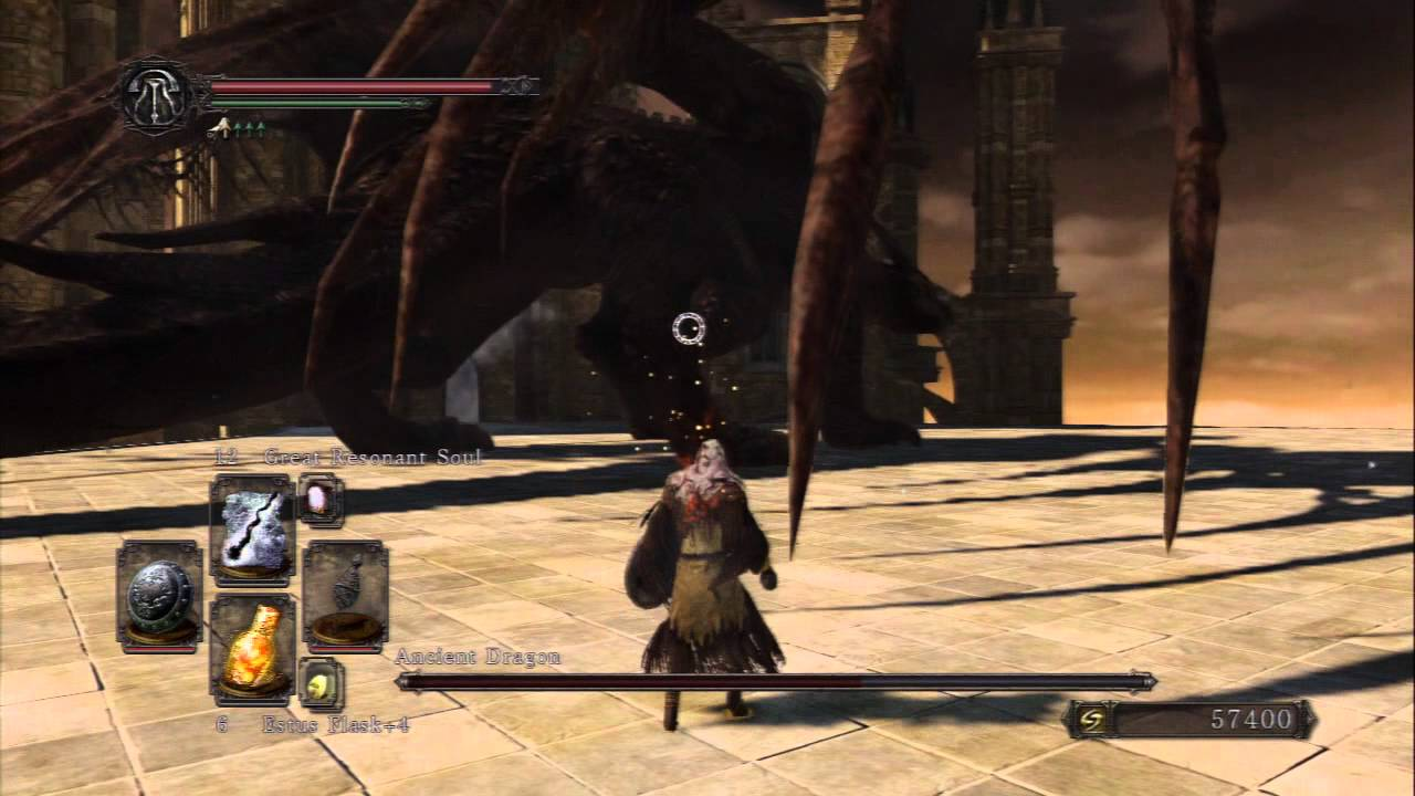 Dark Souls 2 Ancient Dragon Boss