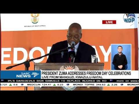 President Jacob Zuma speech on 2017 Freedom Day celebrations