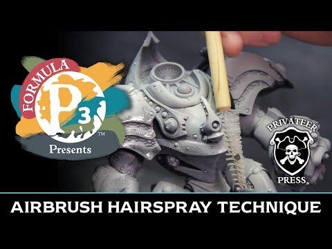 Formula P3 Presents: Airbrush Hairspray Technique