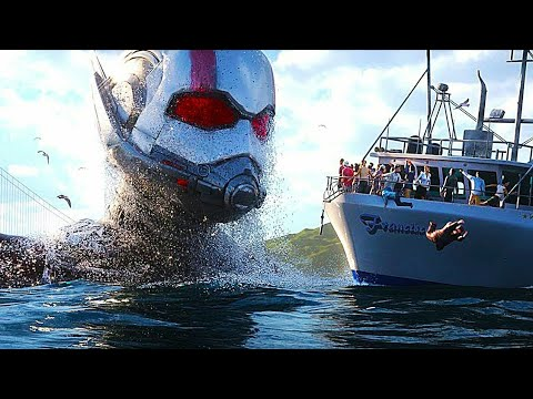 Download Ant Man and The Wasp 2018 - Giant Man Crossing Ocean Scene to get the Stolen Lab   Antman 2018 movie