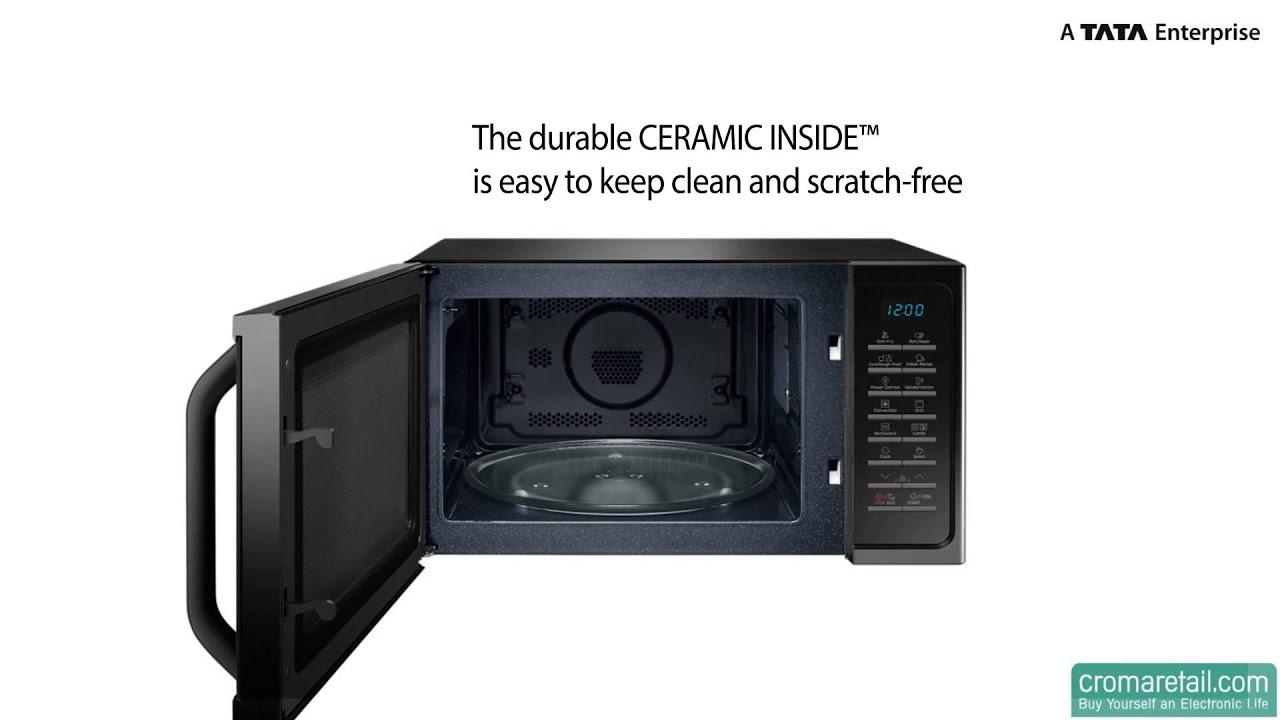 Samsung 28 Litres Mc28h5025vb Convection Microwave Oven