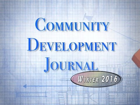 Community Development Journal Winter 2016 (Fridley MN)