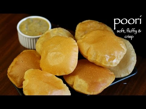 Poori Recipe - How To Make Puffy Puri - How To Make Milk Poori Recipe