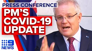 Coronavirus: PM declares cap on overseas arrivals, urges against complacency | 9 News Australia