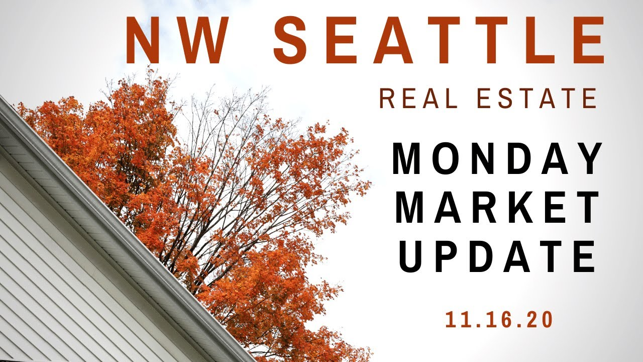 Monday NW Seattle Real Estate Market Update | November 16th, 2020