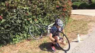 How to Change a flat tire with Evelyn Stevens