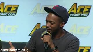 Funny Moments at Ace Seattle with Tom Holland, Anthony Mackie, and Sebastian Stan