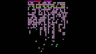 Centipede - Arcade version, 470,942 score. Atari 1980. Full gameplay. (MAME)
