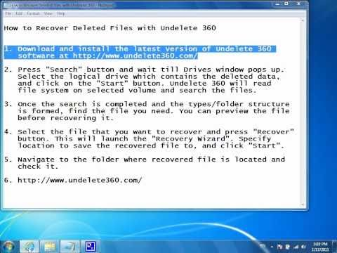 How To Recover Deleted Files With Undelete 360