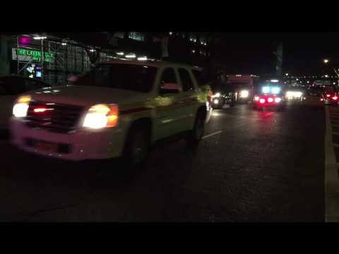3 FDNY SPECIAL UNITS RESPONDING TO A 10-77 4TH ALARM HIGHRISE FIRE ON WEST 59TH STREET IN MANHATTAN.