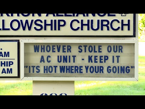 A.J. - An Ohio Church Left A Funny Message To Some Air Conditioning Thieves