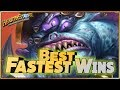 Hearthstone - Best of Fastest Wins - Funny and lucky Rng Moments