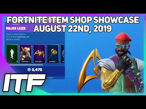 Fortnite Item Shop *NEW* MAJOR LAZER BUNDLE! [August 22nd, 2019] (Fortnite Battle Royale)