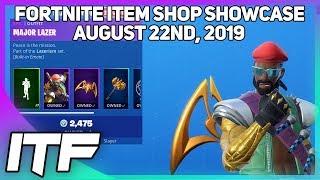Fortnite Item Shop *NEW* MAJOR LAZER BUNDLE! [August 22nd, 2019] (Fortnite Battle Royale)