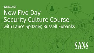 New Five Day Security Culture Course | MGT521 | SANS Institute